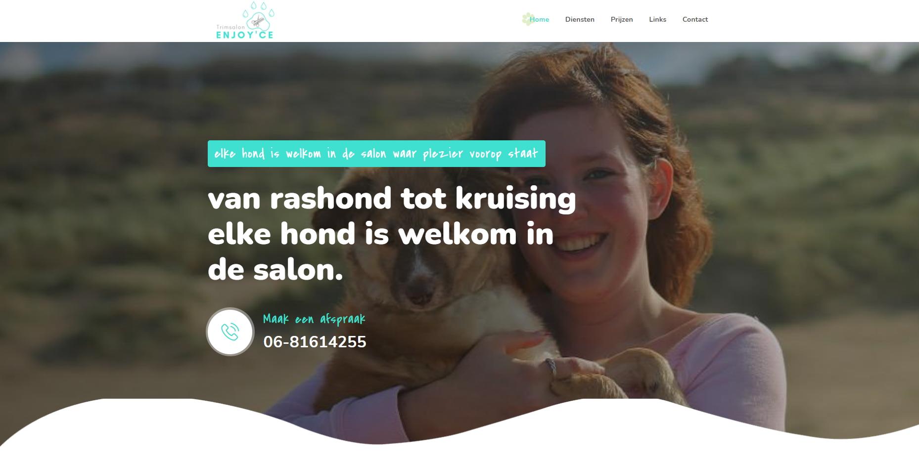 Nieuwe website: Trimsalon Enjoy'ce
