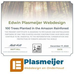 Edwin Plasmeijer laat 100 bomen planten